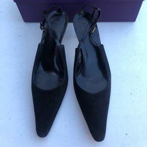 Ralph Lauren Black Pointy Heel